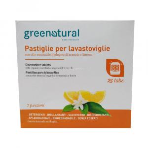 Tabs Multifunzione per Lavastoviglie 25 pz Green Natural