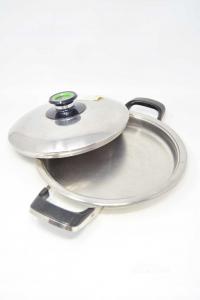 Pot Steel Amc 39042 25cm + Lid