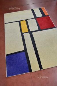 Carpet 120x170 Beige Fantasy Geometric Red Blue Orange