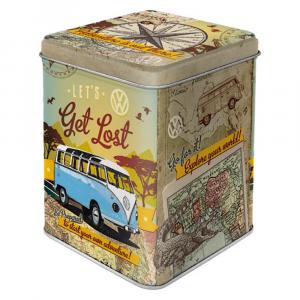 Scatolina da the  VW Bulli - Let's Get Lost di latta