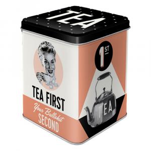 Scatolina da the Tea First di latta