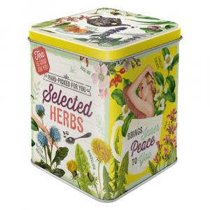 Scatolina da the Selected Herbs di latta