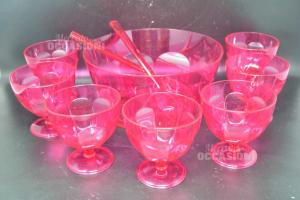 Set Fruit Salad Plastic -x- 12 Cups + Bowl + Ladles