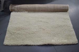 Carpet White Fringes 150x220 Cm