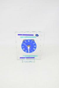 Orologio Da Tavolo In Vetro De Luxe 12x15 Cm