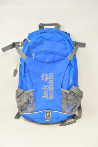 Backpack Light Blue For Mountain Small Jack Wolfskin Velocity 12 With Protection Per Rain