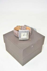 Orologio Da Polso Donna Airoldi Color Tortora Quadrante Brillantini (batteria
