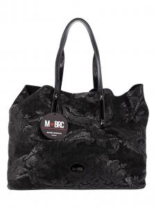 M BRC Borsa Shopping Camoscio Nera