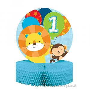 Centrotavola One Is Fun Boy Primo Compleanno bimbo 23x30 cm - Party tavola