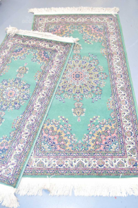 Tris Carpets Rug In Wool Birko Turkey Green Fantasy 2 (60x120) - 80x150