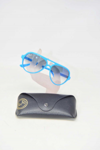 Occhiali Da Sole Rayban Montatura Azzurra In Plastica RB4125 CATS5000 755/3F 2N