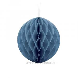 Sfera blu a nido d'ape Honeycomb Compleanno bimbo 20 cm - Party allestimento