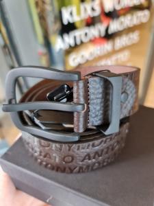 Cintura marrone logata