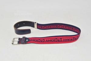 Cintura Bambino Dolce & Gabbana Junior Tg. S Elasticizzata Blu Rossa