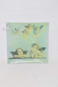 Plate Decoupage Little Angels 24x24 Cm The