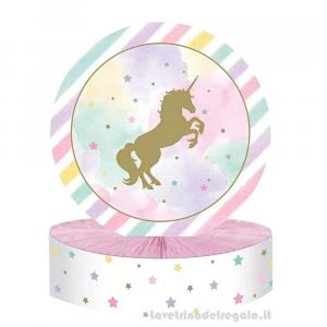 Centrotavola Unicorn Sparkle Compleanno bimba 23x30 cm - Party tavola