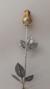Rosa in argento con bocciolo dorato, vendita on line | OREFICERIA BRUNI Imperia