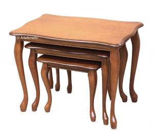 Set 3 Tische im klassischen Stil