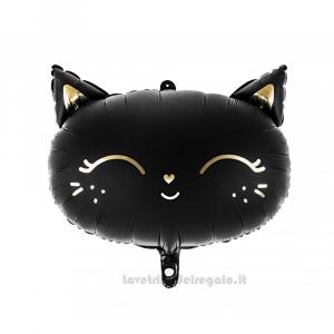Palloncino Foil Gattino nero Compleanno bimba 48x36 cm - Party allestimento