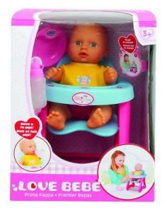Love Bebe Bambola 30 Cm Con Seggiolino Pappa