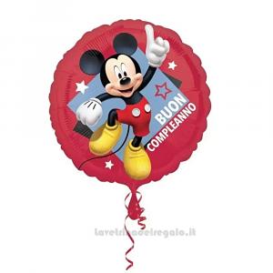 Palloncino Foil rosso con Topolino 45 cm Compleanno Bimbo - Party allestimento
