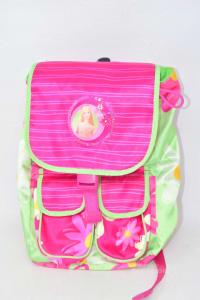 Backpack Baby Girl Barbie Green -x- 36x10x23 Cm