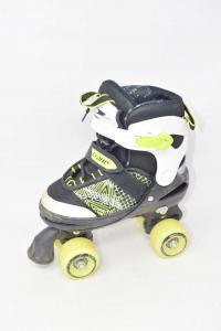 Skates To 4 Rotelle Crane Extendable N° 33 / 37 Yellow