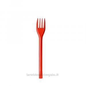 20 pz - Forchettine rosse in plastica - Party tavola
