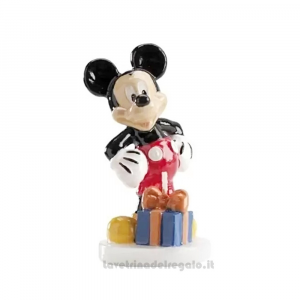 Candelina Topolino Mickey Mouse 3D in cera Compleanno bimbo 5x10 cm - Party torta