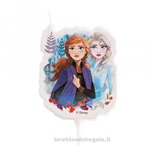 Candelina Frozen 2 Il segreto di Arendelle 2D in cera Compleanno bimba 7.5 cm - Party torta