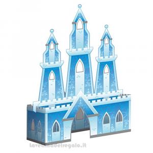Centrotavola Castello di Ghiacco Frozen Compleanno bimba 30x21 cm - Party tavola