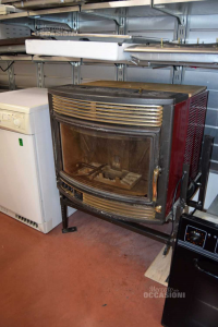 Pellet Oven From Built-in Palazzetti + Structure From Appoggio With Tastierino