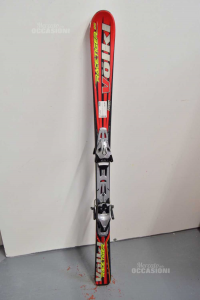 Ski Volki Red Black 1400 Mm Junior Included Of Attacchi