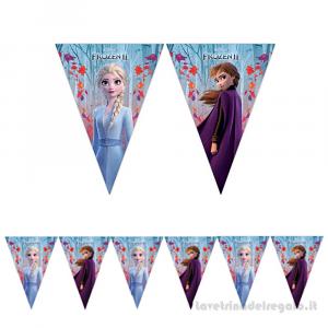 Ghirlanda bandierine Frozen 2 Il segreto di Arendelle Compleanno bimba 2.30mt - Party allestimento