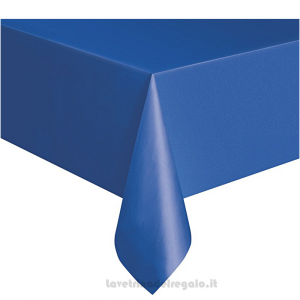 Tovaglia blu oceano Compleanno bimbo in plastica 137x213 cm - Party tavola