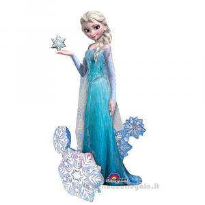 Palloncino Foil Elsa di Frozen a grandezza naturale Compleanno Bimba 88x144 cm - Party allestimento