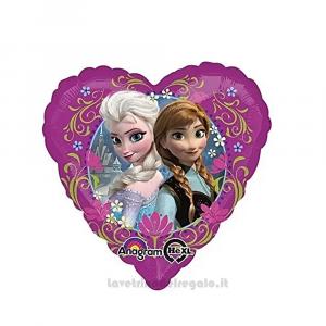 Palloncino Foil Frozen a forma di cuore Compleanno Bimba 43 cm - Party allestimento