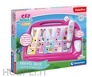 Sapientino - Travel Quiz Cry Babies, penna interattiva, elettronico parlante, gioco educativo