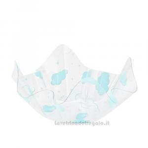 Centrotavola Ciotola con nuvolette celesti Compleanno bimbo 22.5x12 cm - Party tavola