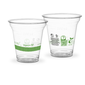 Bicchieri PLA trasparente Premium per Smoothies - 300ml