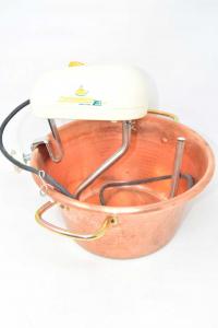 Copper Cauldron For Polenta Electric Polentamatic 26 Cm