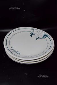 Plates Oval - Grigliate 4 Pieces Tognana Per Esso