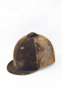 Cappello Da Cavallerizza In Vellutino Marrone