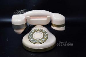 Telefono Vintage Telcer Colore Rosa Tenue (da Provare)