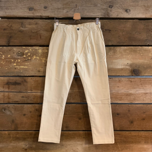 Pantalone Bakery Supplies Lowan Corduroy in Velluto Bianco