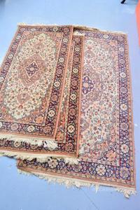 Tris Carpets Rug Pink Antique And Beige 70x140 Cm 2 Pieces / 90x170 Cm