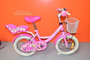 Bici Bambina Carnielli Rosa Con Cestino