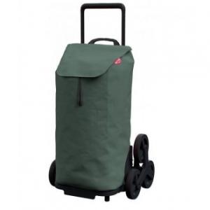 Carrello Per La Spesa Modello Tris Colore Verde Con 6 Ruote Trolley Porta Spesa In Poliestere 52 Litri Accessori Casa Cucina