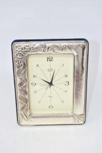 Orologio Con Cornice In Argento 925 Dimensione 14 X 18 Cm