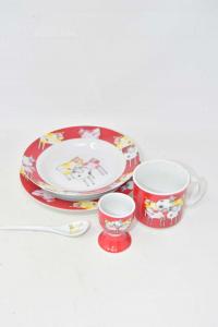 Set 5 Pieces Pappa Ceramic For Children